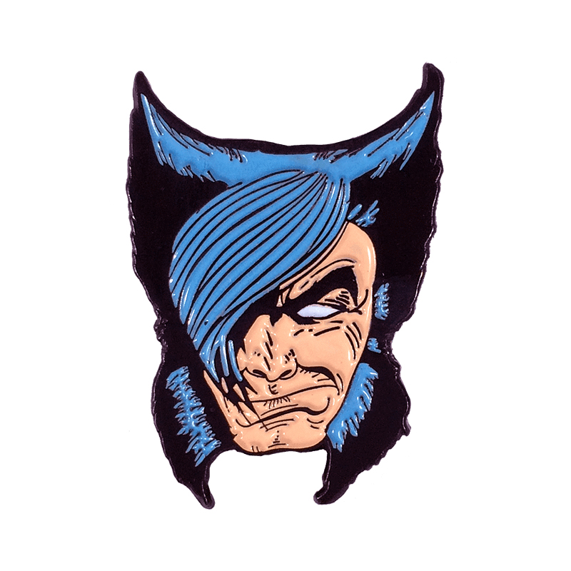 Wolverines lapel pin retro 80s X-Men superhero brooch Marvel comics fans gift image