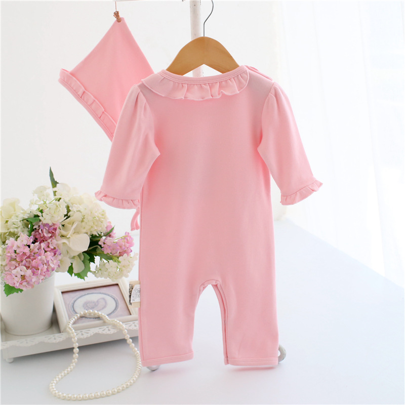 45f3bf923d22 Cute Baby Girl Ruffles Romper Newborn Children Hello Kitty Playsuit ...