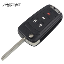 jingyuqin 10pcs/lot Flip Remote Key Shell 2/3/4/5 Button Fob for Chevrolet Cruze Camaro Equinox Malibu Sonic Replacement