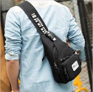 Image 5 - Men casual chest bag Oxford waterproof shoulder Messenger chest bags Small Sling Bags man Women Shoulder Crossbody Bag Back Pack