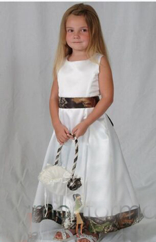 camouflage flower girl dresses 2020 pageant gowns  long camouflage  kid evening gowns