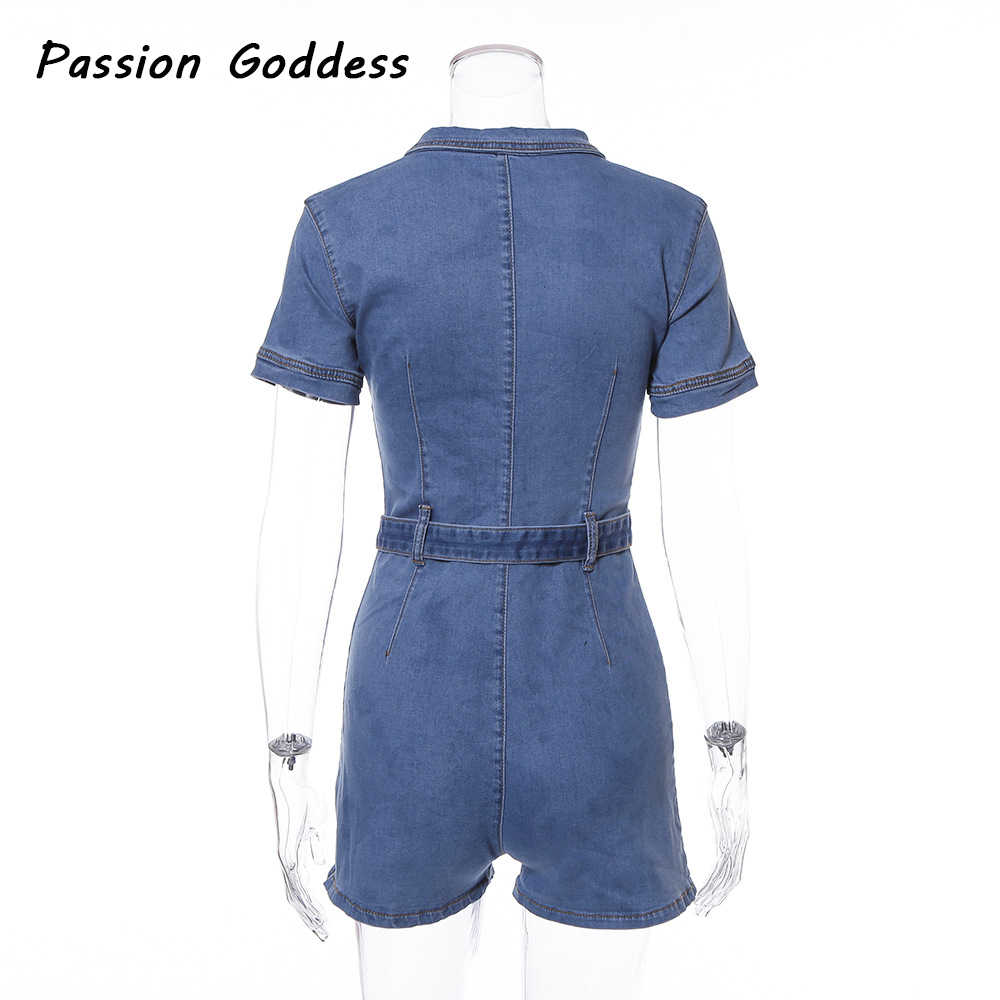 90% Katoen Casual Vrouwen Rits Denim Playsuits Jumpsuits Shorts Outfits Sjerpen Pocket Jeans Overalls Combishort Macacao Rompertjes