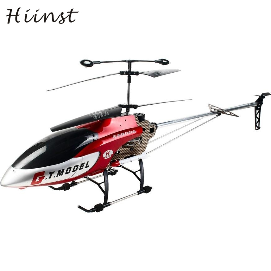 HIINST New 53 Inch Extra Large GT QS8006-2 Speed 3.5 Ch RC Helicopter Builtin Gyro Red m ...