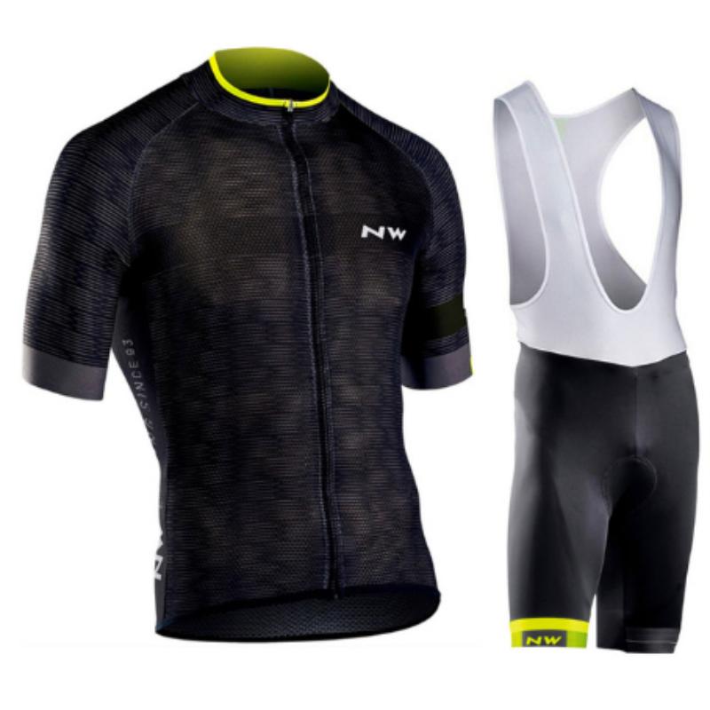 NW Pro Men short sleeve Cycling Jersey Bike Clothing bib shorts shirt set MTB bicycle clothes 2018 ropa ciclismo 12D gel pad #3