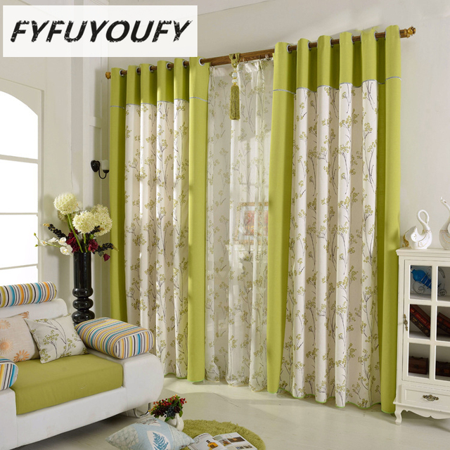100 Cotton And Linen Europe Pastoral Type Blackout Curtain For