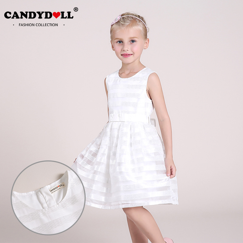 2017 Popular in Europe and America summer new girls dress cotton breathable princess dress sweet white children dress democracy in america nce