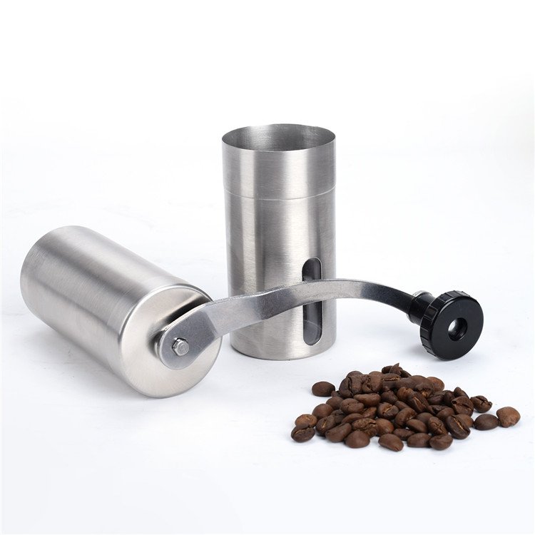 Hot Sale Handmade Handy Spice Coffee Bean Pepper Grinder Stainless Steel Grinder with Ceramic Core Coffee
