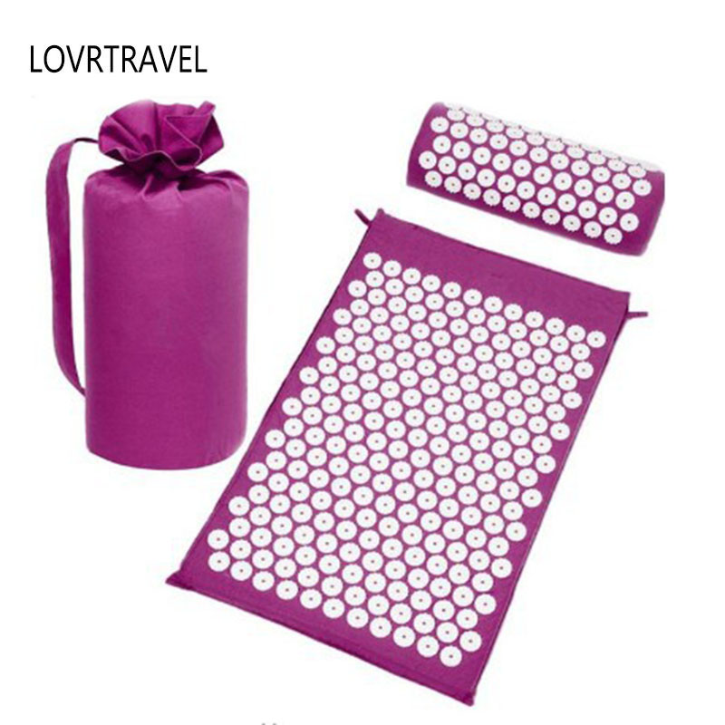 Massager Cushion Acupressure Mats Relieve Stress Pain Acupuncture Spike Yoga Mat & Health Care Pillow Fitness Rug Black G185 Massager Cushion Acupressure Mats Relieve Stress Pain Acupuncture Spike Yoga Mat & Health Care Pillow Fitness Rug Black G185