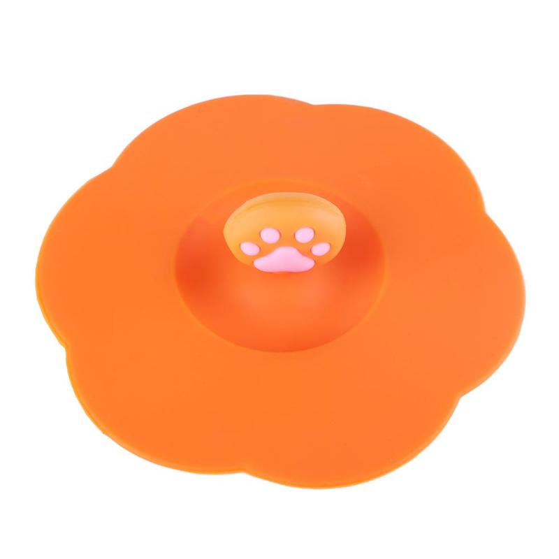 Silicone Cup Cover Glassware Lid Cartoon Silicone Cup Cover Paw Anti-Dust Leakproof Airtight Tea Coffee Sealed Lids Cap