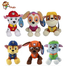 20 30cm Canine Patrol Dog Toys Russian Anime Doll Action Figures Car Patrol Puppy Toy font