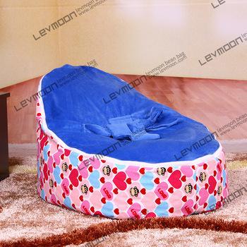 Cadeira do saco de feijão bebê com 2 pcs oceano azul para cima da tampa do bebê tampa do saco de feijão bebê crianças cadeira do saco de feijão tampa de assento LIVRE GRÁTIS