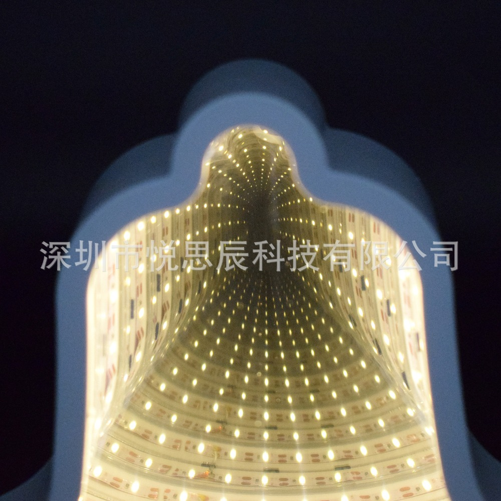Купить с кэшбэком LED light New 3D mirror tunnel light creative unicorn shape mirror lamp dressing table bedroom decoration decoration