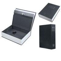 18 11 6 5 5cm English Dictionary Book Cash Money Safe Box Case Black Size S