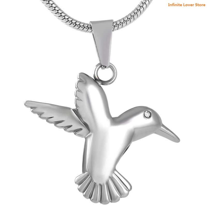 цена на KLH8713-9 Wholesale Cheap Price!!!Bird Fly From Heaven Urn Cremation Pendant Ash Holder Memorial Necklace for Pet Keepsake