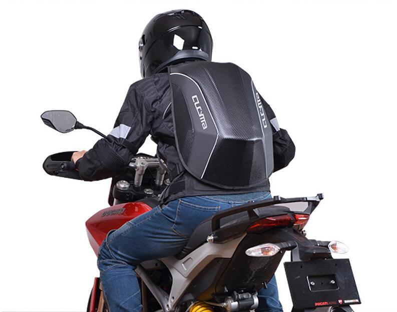 Рюкзак Для Езды На Мотоцикле для Yamaha Racing Team водонепроницаемый из углеродного волокна Жесткий корпус мотоциклетная сумка рюкзак для мотокросса - 3