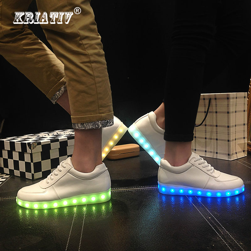Zapatillas KRIATIV LED Usb Zapatillas brillantes Ilumina Zapatillas con Luces Led para arriba Zapatillas tenis Zapatillas Luminous para bebés
