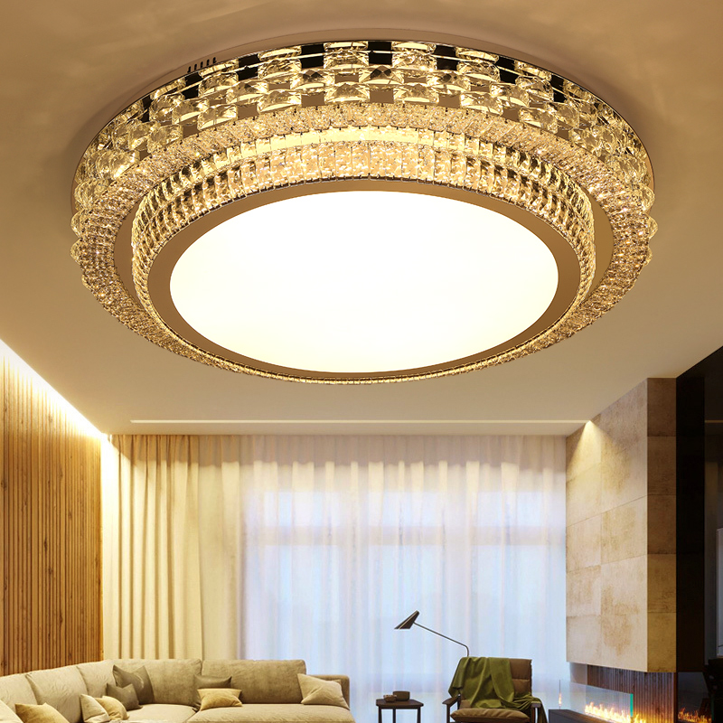 Living Room Light Simple Modern Atmosphere Home Luxury Lobby Light Creative Crystal  Lighting Rectangular LED Ceiling Light lamps-in Ceiling Lights from ... 8a6f9e222c6c