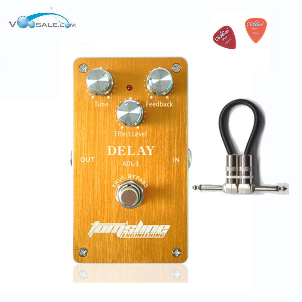ADL-1 Delay Premium Analogue Guitar Effect Pedal Aroma Aluminum Alloy Pedals With True Bypass For Guitarists + Free Cable aroma adl 1 aluminum alloy housing true bypass delay electric guitar effect pedal for guitarists hot guitar accessories