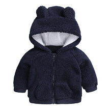 fd5e8c4ca Bebé recién nacido Ropa Otoño Invierno caliente con capucha chaqueta y  abrigo para 3-18 m niño niñas dibujos animados abrigo de .