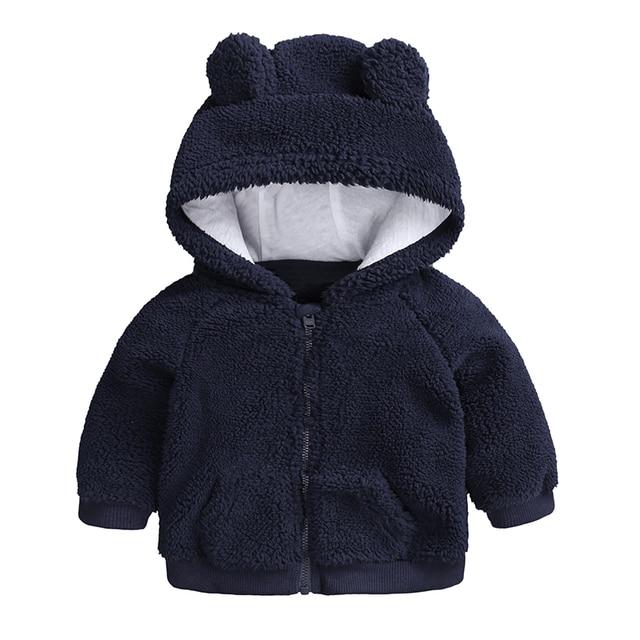 newborn baby clothes Autumn Winter warm Hooded jacket&Coat for 3-18M toddler baby boy girls cartoon bear Outerwear blue green
