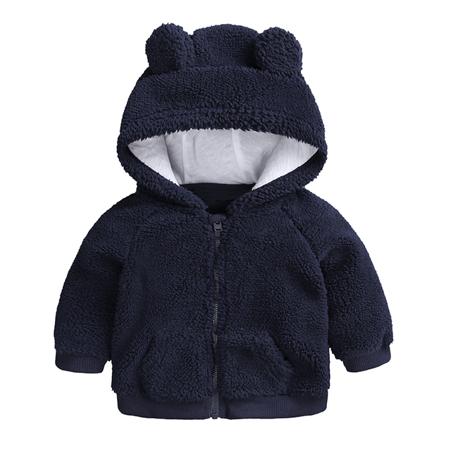 newborn baby clothes Autumn Winter warm Hooded jacket&Coat for 3-18M toddler baby boy girls cartoon bear Outerwear blue green