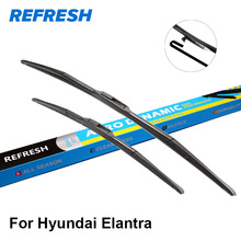 REFRESH Wiper Blades for Hyundai Elantra Fit Hook Arms Model Year from 2000 to 2015(China)