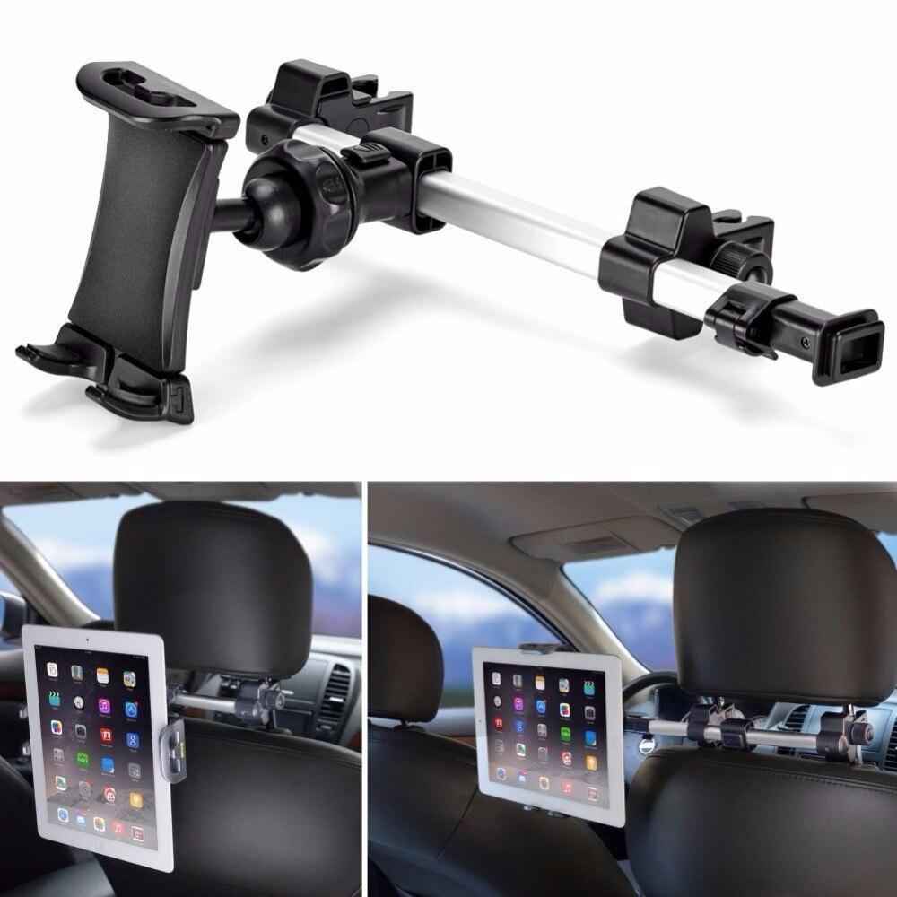 Car Headrest Mount Holder Tablet Car Back Seat Stand Dual Position Adjustable 360 Rotation Bracket for