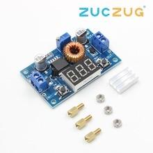 1pcs XL4015 5A High power 75W DC-DC adjustable step-down module+LED Voltmeter Power supply module