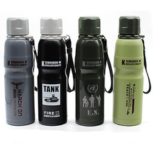 travel cup thermal bottle bike stainless steel stainless steel vacuum tumbler for coffee tea thermo mug 500ml 800ml thermobecher bachelor stainless steel cup khaki black 500ml