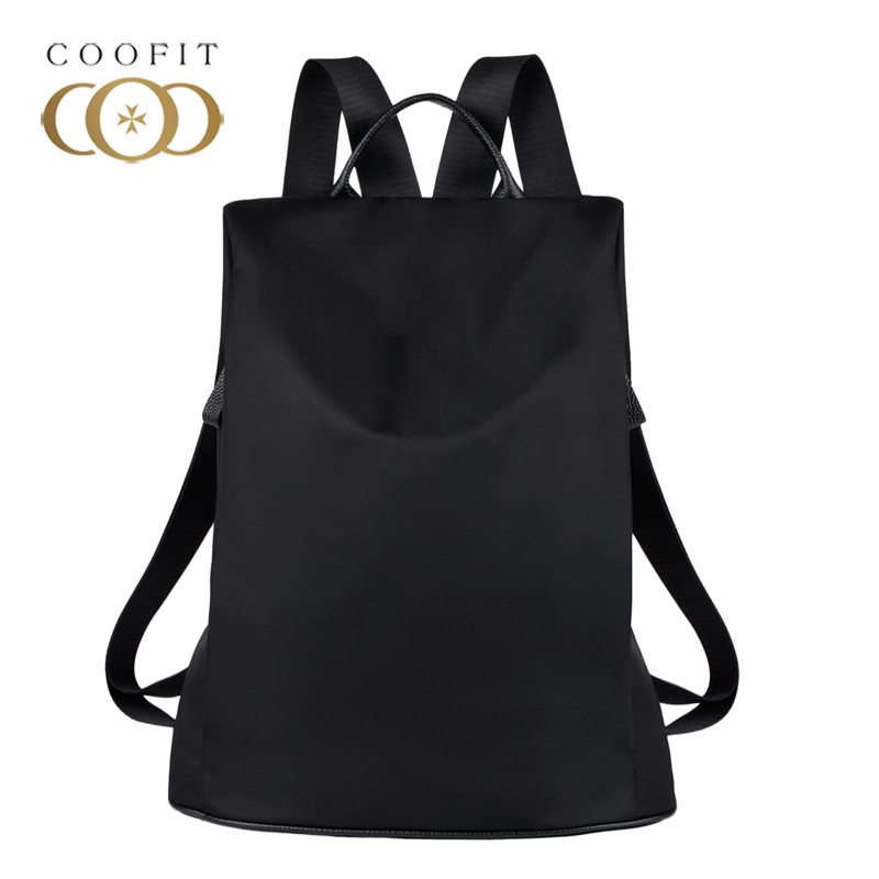 Coofit Designer Womens Brand Backpack Fashion Nylon Waterproof Anti Theft Travel Bagpack School Bookbag For Girls Teens Mochila coofit dis mujer mochila marca moda nylon impermeable antirrobo mochila school bookbag para adolescentes mochila