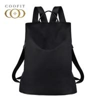 Coofit Designer Womens Brand Backpack Fashion Nylon Waterproof Anti Theft Travel Bagpack School Bookbag For Girls Teens Mochila