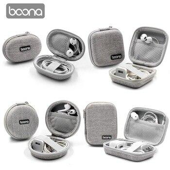 Boona EVA Oxford Hard Zipper Mini Earbuds Earphone Case BlueBuds Case In-ear Bluetooth Earphone Bag Charger Head Organizer