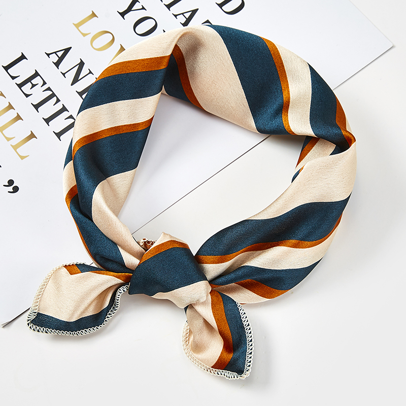 Hot 2019 Hair   Scarf   Women Silk Feeling Square Lady   Wrap   Small Office Neck Head   Scarves   Square Brand Handkerchief Bandana 50*50cm