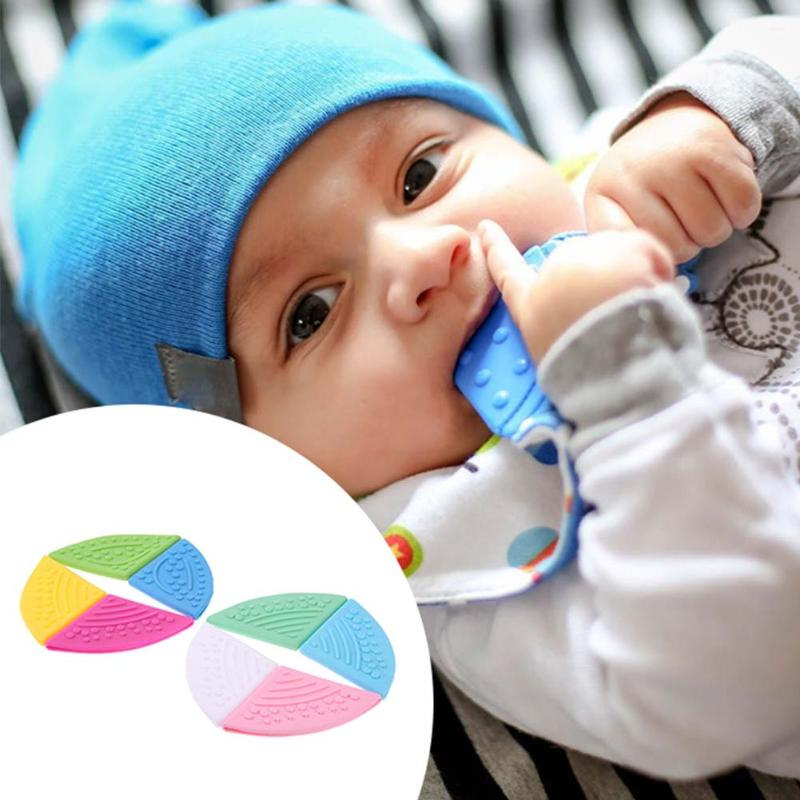8pcs/lot Infant Baby Silicone Teether Teething Toys Colorful Newborn Teeth Training Chew Toy Pendant DIY Crafts for Baby Bib