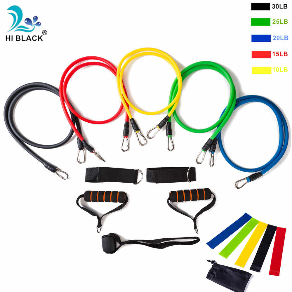 116db6e71eec crossfit Latex Resistance Bands Set Yoga Exercise Fitness Band Rubber Loop  Tube Bands Gym Door Anchor