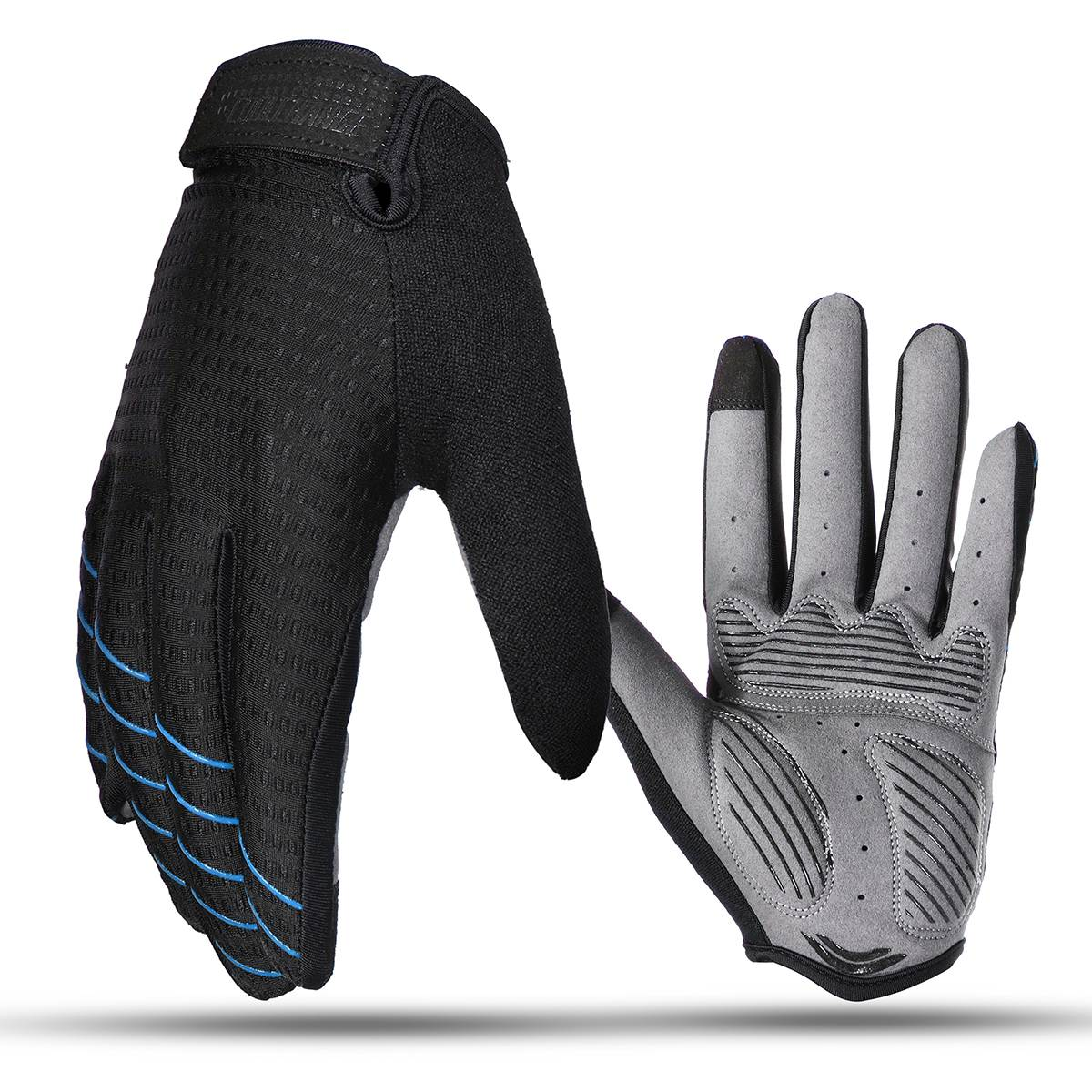 купить Black Blue Red Winter Warm Cycling Gloves Touch Screen Racing Motorcycle Bike Women Men for skiing outdoor design дешево