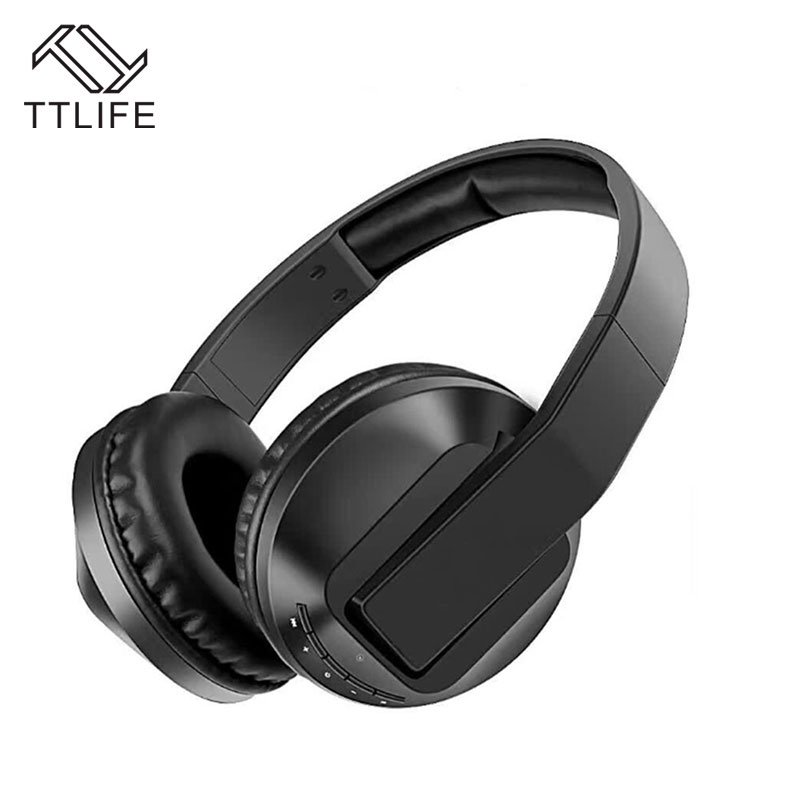TTLIFE Wireless Bluetooth 4.1 Headphone Stereo Foldable Headset Handsfree Support FM Radio TF with mic For Phones Galaxy hot sale ttlife smart bluetooth 4 1 earphone upgraded wireless sports headphone portable handfree headset with mic for phones