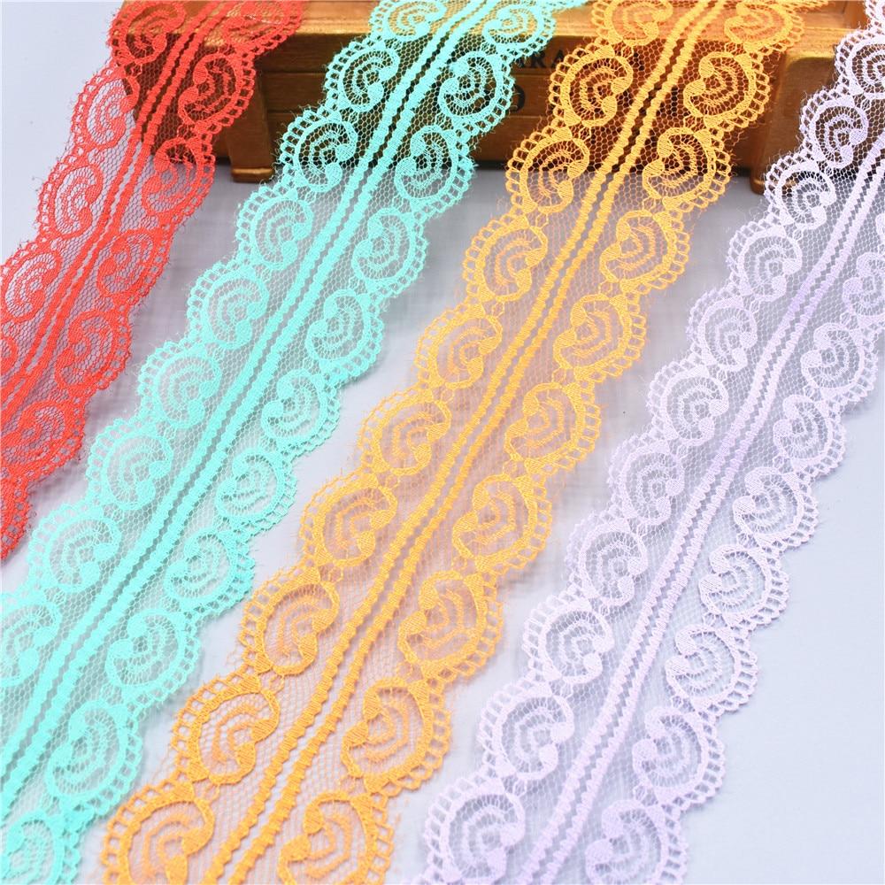 Красивые 10 ярд кружево, лента, тесьма 45 мм широкий отделкой DIY ремесла вышитые шнур Вышивание украшения в африканском стиле платье кружево ткань