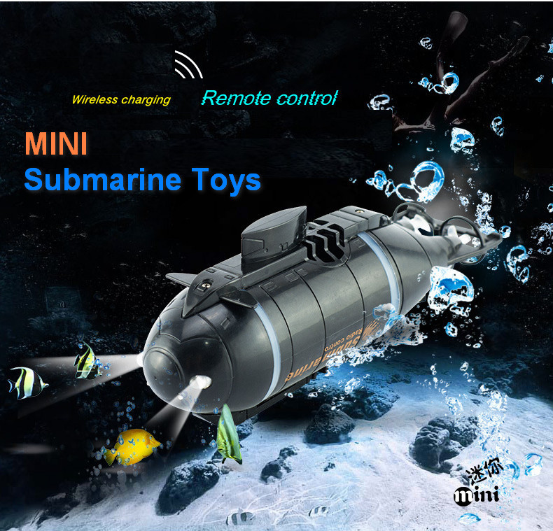 Amazing mini rc nuclear submarine toys for children child gift radio wireless radio remote control summer water board toys