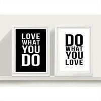 AZQSD Minimalista A4 de Gran Cartel Del Arte Cotizaciones Del Amor de Impresión Negro Blanco Cuadro de la Pared Pintura de la Lona Para La Decoración Del Hogar de La Vendimia PP059