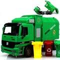 Nuevo Tamaño Grande Nuevo Jumbo del Gran Hombre Camión De Basura de Carga Lateral Se puede Levantar Con 3 cubo de Basura Coche de Juguete Regalos para Los Niños