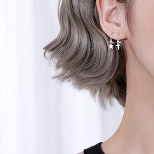 Womens Fashion Silver Cross Stud Earring 925 Cross Heart Star Earrings  For Young Girls Teen Gift стоимость