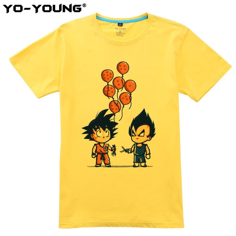 Nyaste Anime Dragon Ball Printing Men T-shirts Goku Vegeta Funny - Herrkläder - Foto 4