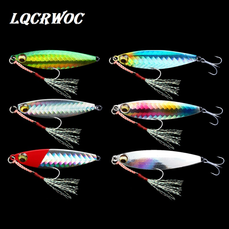 HOT NEW 7g 10g 15g 20g Fishing Spoon Spinnerbait Metal Lure Tuna Lures Glow In The Dark Fishing Tackle Lead Minnow Jigging Pesca