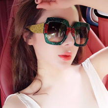 Square Sunglasses Women Italy Luxury Brand Designer Women Mi