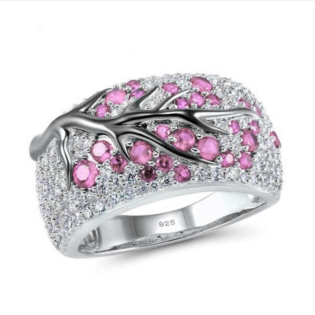 95%-ная скидка! Новые оригинальные кольцо из стерлингового серебра 925 Модные Винтажные Ювелирные изделия лесное дерево ветка с листьями кольца подарок для женщин KRA0698