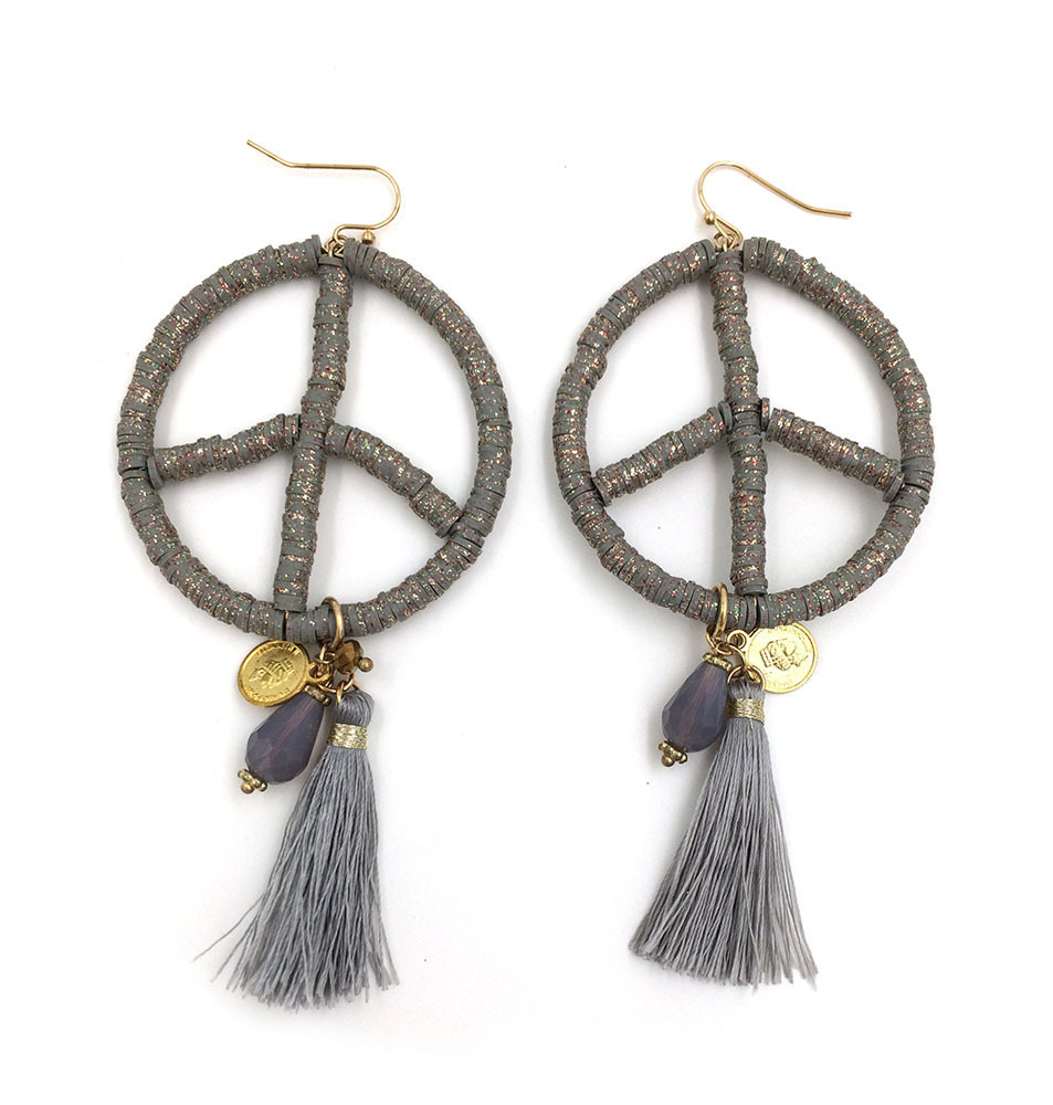 Tel Earring Peace Earrings Clay Ceramic Bohemian Ethnic Summer Style In Drop From Jewelry Accessories On Aliexpress