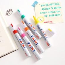 Marker-Pen Permanent-Paint Highlighters Tread-Rubber Car-Tyre-Tire Metal Waterproof 12-Colors
