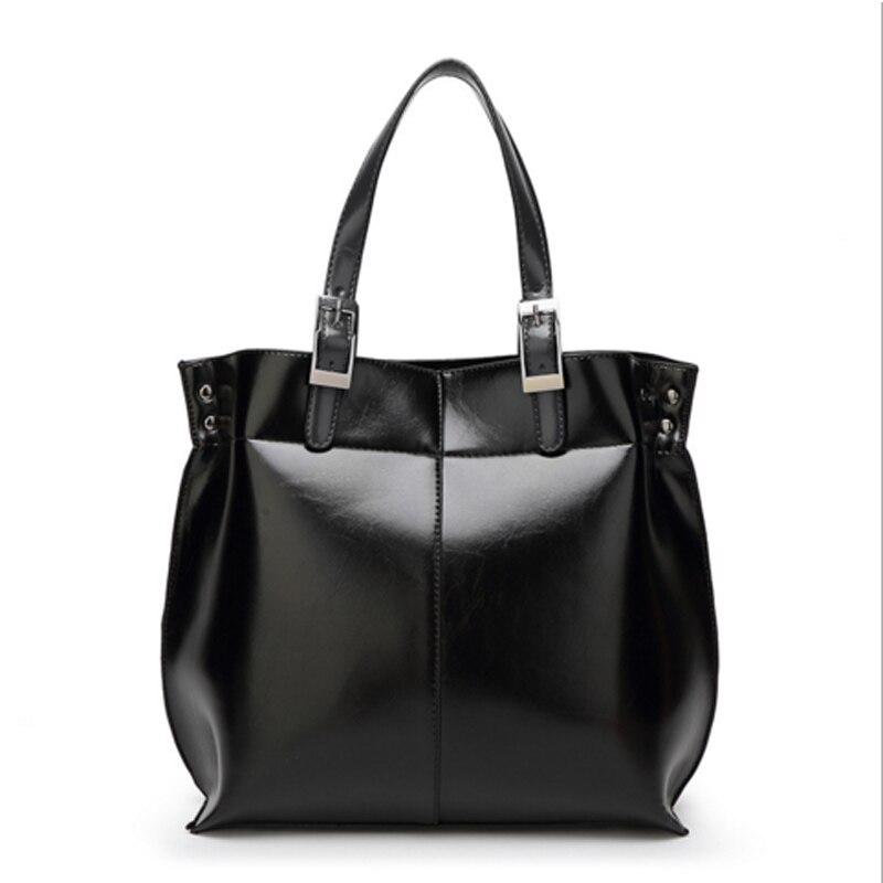 ФОТО Leather Bags Handbags Women Famous Brands Big Casual Women Bags Handbag PU Women Bag Large Capacity Oil Wax Leather Shoulder Bag