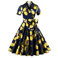 Summer Women Dress Rockabilly Dresses 60s 50s Vintage Big Swing Floral Pinup Short Long Audrey Hepburn Casual Dresses Plus Size